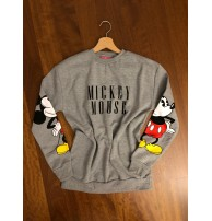 Mickey Mouse Sweatshirt Gri